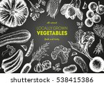 vegetables top view frame.... | Shutterstock .eps vector #538415386