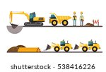 construction machinery and... | Shutterstock .eps vector #538416226