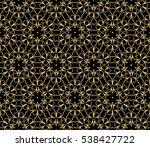 golden floral geometric... | Shutterstock .eps vector #538427722