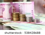 rupee indian currency note... | Shutterstock . vector #538428688