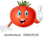 cartoon tomato giving thumbs up | Shutterstock . vector #538429126
