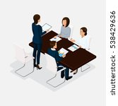 isometric people  businessmen...   Shutterstock .eps vector #538429636