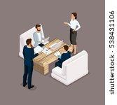 isometric people isometric... | Shutterstock .eps vector #538431106