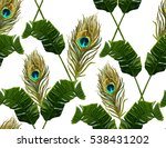 beautiful seamless vector... | Shutterstock .eps vector #538431202