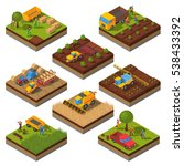 isometric set with isolated... | Shutterstock . vector #538433392