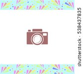 camera vector icon on white...