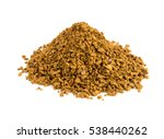 Bunch Of Instant Coffee Isolated