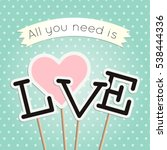Love Poster With Heart And...