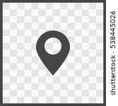 gps vector icon. isolated... | Shutterstock .eps vector #538445026