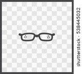 glasses vector icon. isolated... | Shutterstock .eps vector #538445032