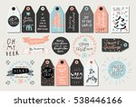 set of merry christmas and... | Shutterstock .eps vector #538446166