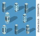 vector isometric city... | Shutterstock .eps vector #538446976