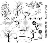 collection  isolated graphic...   Shutterstock .eps vector #53844793