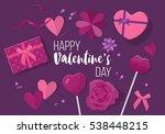 valentines day creative banner... | Shutterstock .eps vector #538448215