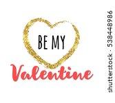 gold glitter heart with...   Shutterstock .eps vector #538448986