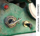 Key In The Ignition Of An Old...
