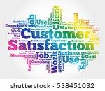 customer satisfaction word... | Shutterstock .eps vector #538451032