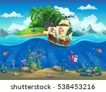 vector cartoon illustration of... | Shutterstock .eps vector #538453216