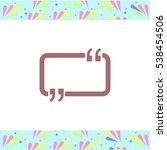 speech bubble vector icon on... | Shutterstock .eps vector #538454506