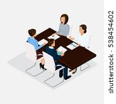isometric people  businessmen... | Shutterstock .eps vector #538454602