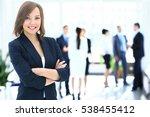 portrait of a business woman... | Shutterstock . vector #538455412