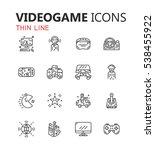 simple modern set of videogame... | Shutterstock .eps vector #538455922