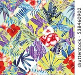 print fashion tropic jungle... | Shutterstock .eps vector #538460902