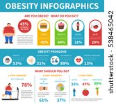 obesity information and... | Shutterstock . vector #538465042