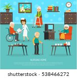 Gerontology Nursing Flat Poster ...