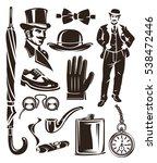 set of vintage gentleman...   Shutterstock .eps vector #538472446
