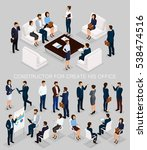 business people isometric set... | Shutterstock .eps vector #538474516