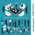 business people isometric set... | Shutterstock .eps vector #538474525