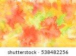 abstract wet watercolor... | Shutterstock . vector #538482256
