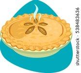 hot apple pie with crusty rim... | Shutterstock .eps vector #538483636