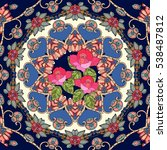 bouquet of roses on flower  ... | Shutterstock .eps vector #538487812