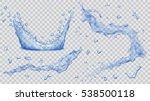set of transparent water...   Shutterstock .eps vector #538500118