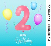 birthday greeting card template....   Shutterstock .eps vector #538508602