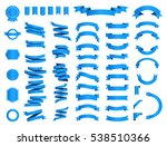 ribbon vector icon set on white ... | Shutterstock .eps vector #538510366
