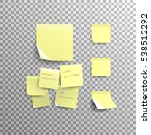yellow sticky note isolated on... | Shutterstock .eps vector #538512292