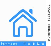 outline home page icon