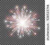 isolated vector fireworks on... | Shutterstock .eps vector #538523746