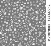seamless pattern with stars.... | Shutterstock .eps vector #538527742