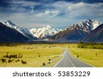 southern alps  new zealand | Shutterstock . vector #53853229