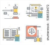 color line  law illustrations ... | Shutterstock .eps vector #538533472