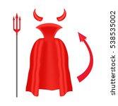 devil horns  trident  mantle... | Shutterstock .eps vector #538535002