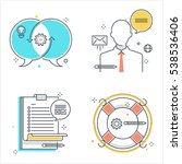 color line  business...   Shutterstock .eps vector #538536406