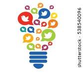 the bulb of the birds. a flock...   Shutterstock .eps vector #538540096