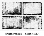 collection of grunge textures.... | Shutterstock .eps vector #53854237