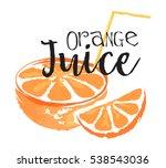 orange fruit label and sticker. ...