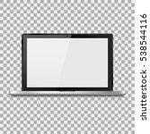 laptop realistic with a blank... | Shutterstock .eps vector #538544116
